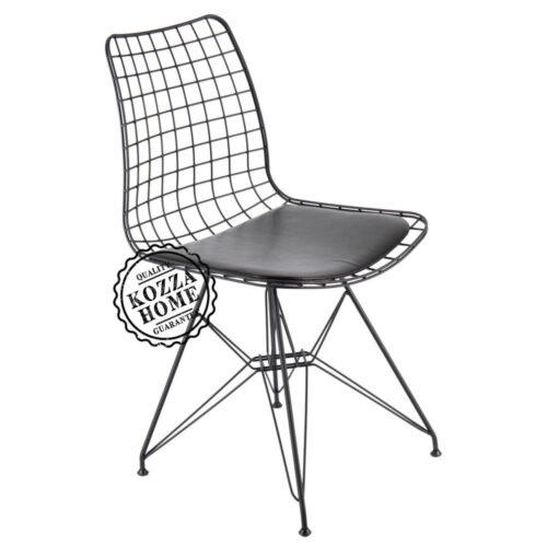 Endüstriyel Siyah Metal Sandalye M7