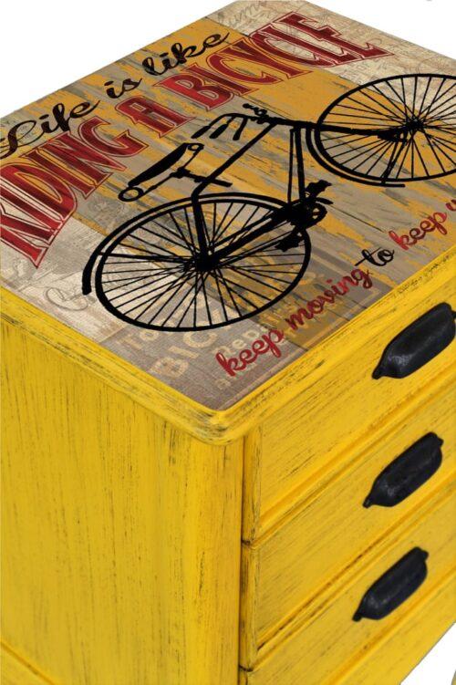 #sarı #eskitme #komodin
