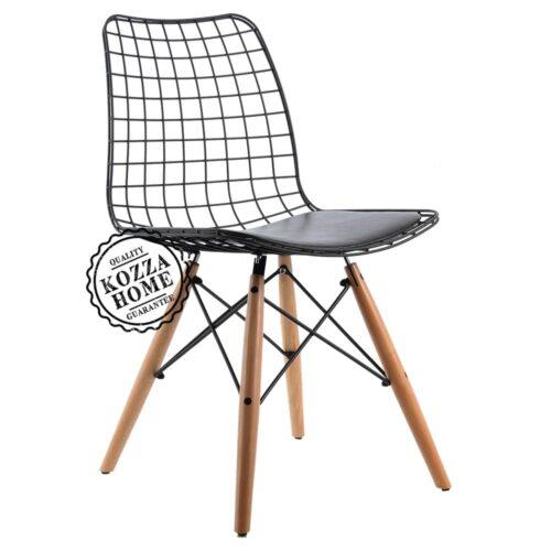 Ahşap Ayaklı Metal Sandalye M7