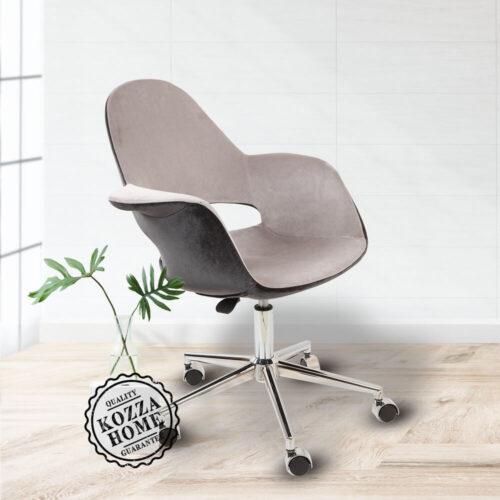 Organic Krom Çalışma Sandalye Gri