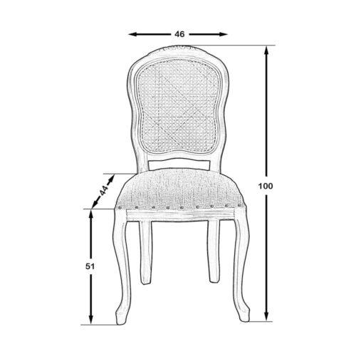 Jersey Hazeranlı Sandalye Naturel