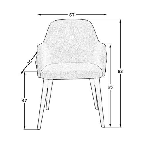 Vista Kollu Sandalye