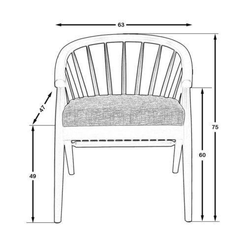 Canada Sandalye Ceviz - KTN