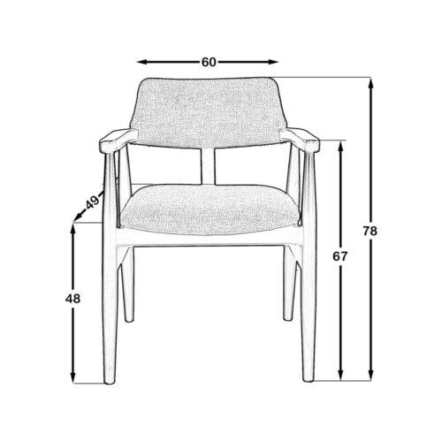 Panama Sandalye Siyah