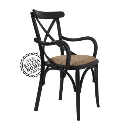 Thonet Kollu Sandalye Siyah