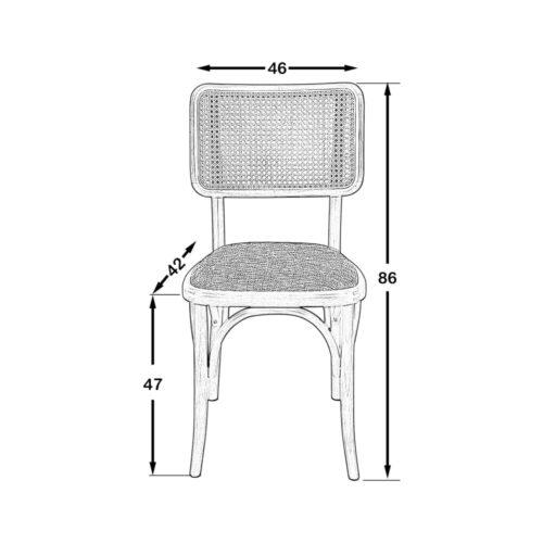 Scala Hazeranlı Sandalye Siyah