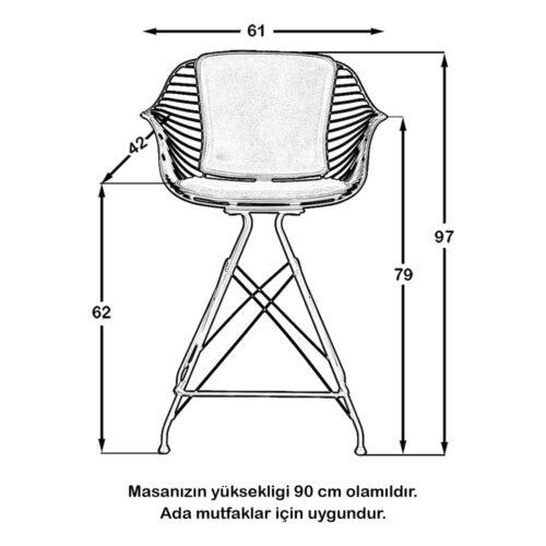 M9 Bar Sandalye Siyah