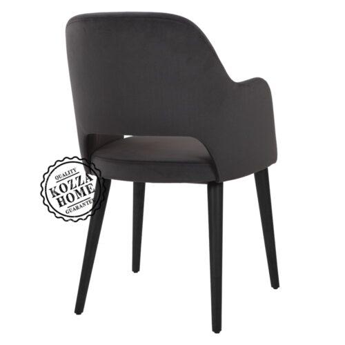 Cosmo Kollu Sandalye Siyah