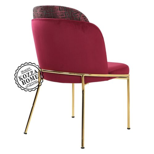 Mia Gold Sandalye Bordo
