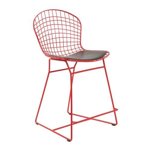 Delux Bar Sandalye Kırmızı