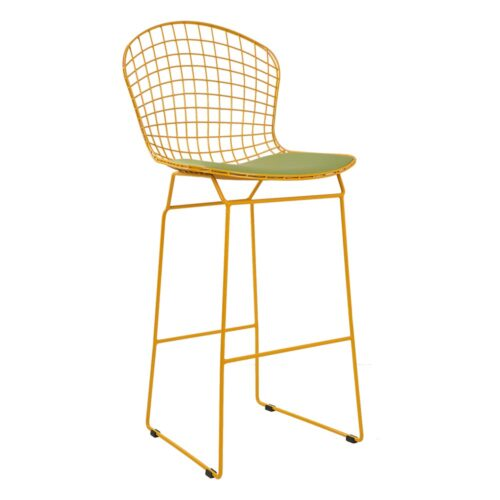 Delux Bar Sandalye Sarı